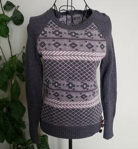 PrAna wool blend nordic print sweater